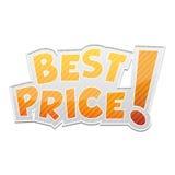¡El mejor precio! etiqueta Foto de archivo