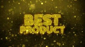 El mejor producto desea la tarjeta de felicitaciones, invitación, fuego artificial de la celebración