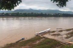 El mejor río Mekong, puerto, Luang Prabang, Laos Imagen de archivo libre de regalías