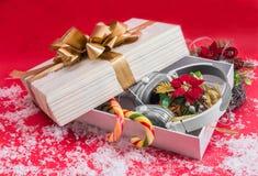 El mejor regalo 2015 de la Navidad de los auriculares Imágenes de archivo libres de regalías
