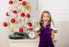 El mejor regalo nunca Concepto de la Feliz Año Nuevo Los sueños vienen verdad Regalo conseguido ella quiso exactamente Concepto d fotos de archivo