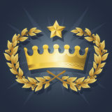 El mejor rey real Crown con la guirnalda de la calidad stock de ilustración