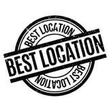 El mejor sello de goma de la ubicación Fotografía de archivo