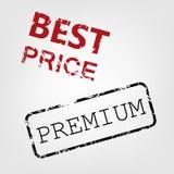 El mejor sello de goma del precio. Imagen de archivo