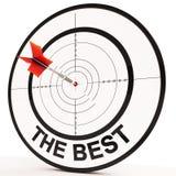 El mejor significa a Victory Achievement And Excellence Imágenes de archivo libres de regalías