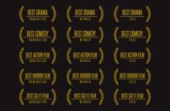El mejor sistema del logotipo del ganador del premio de la película libre illustration