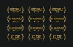 El mejor sistema del logotipo del vector del ganador del premio de la película del guión libre illustration