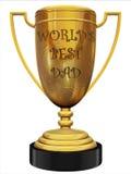El mejor trofeo del papá del mundo Imagen de archivo