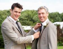 El mejores hombre y novio At Wedding Fotos de archivo