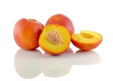 El melocotón natural da fruto colección Imagen de archivo