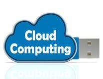 El Memory Stick computacional de la nube significa el ordenador Imagenes de archivo