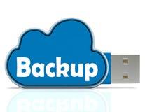 El Memory Stick de reserva muestra ficheros y almacenamiento de la nube Foto de archivo