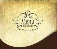 El menú retro del restaurante primero pagina diseño Imagen de archivo libre de regalías