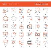 El mensaje burbujea los iconos ilustración del vector