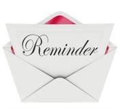 El mensaje de la nota de la palabra del recordatorio recuerda la cita importante Meetin Fotos de archivo libres de regalías