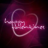 El mensaje de la tarjeta del día de San Valentín feliz Fotografía de archivo
