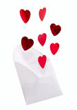 El mensaje del amor Imagen de archivo libre de regalías