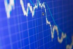 El mercado de acción cita el gráfico Fotos de archivo libres de regalías