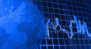 El mercado de acción cita el gráfico Foto de archivo