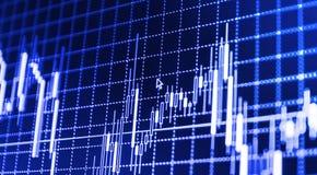 El mercado de acción cita el gráfico ilustración del vector