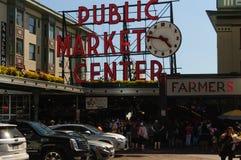 El mercado de los granjeros en Seattle Foto de archivo