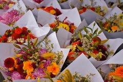 El mercado de los granjeros florece horizontal Foto de archivo
