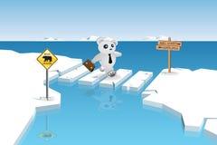 El mercado de oso está cruzando ilustración del vector