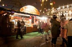 El mercado del Año Nuevo en Budapest Imagen de archivo libre de regalías