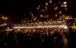 El mercado del Año Nuevo en Budapest Fotos de archivo libres de regalías
