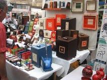 El mercado del arte en el teléfono AVIV Israel Imagen de archivo