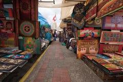 El mercado del artesano en Otavalo, Ecuador Fotografía de archivo