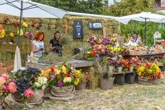 El mercado del granjero en Ucrania Imagen de archivo libre de regalías
