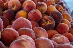 El mercado del granjero: Fruta de piedra de California Imágenes de archivo libres de regalías