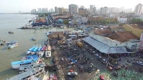 El mercado del Ver-o-Peso de la visión aérea en Belem hace la ciudad de Para En noviembre de 2016 - el Brasil metrajes