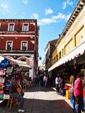 El mercado en el puente de Rialto, Venecia, Italia Fotos de archivo