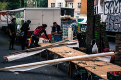 El mercado ha terminado Fotos de archivo