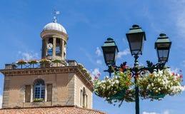 El mercado Hall Clock Tower adentro se deleita, Francia Foto de archivo libre de regalías