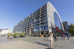 El mercado Hall In Rotterdam, Países Bajos foto de archivo