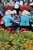 El mercado ocupado en Vietnam imagen de archivo