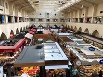El mercado Pasillo en Stuttgart Fotografía de archivo