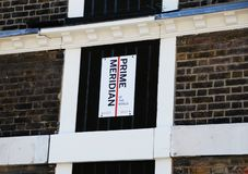 El meridiano primero de Greenwich fotos de archivo libres de regalías