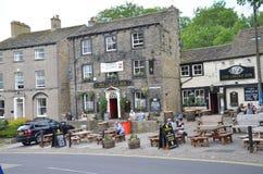 El mesón del castillo del pub en Skipton Fotos de archivo