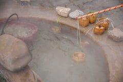 El mesón y el balneario Chiang Rai en Tailandia septentrional hirvieron el huevo Fotografía de archivo libre de regalías