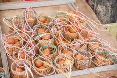 El mesón y el balneario Chiang Rai en Tailandia septentrional hirvieron el huevo Fotos de archivo libres de regalías
