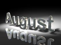 El mes de agosto stock de ilustración