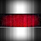 El metal abstracto stars el fondo, metálico y rojo. Fotos de archivo libres de regalías