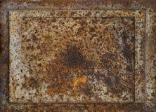El metal aherrumbró fondo marrón Fotos de archivo libres de regalías