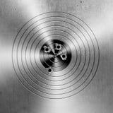 El metal apunta el fondo Imagen de archivo
