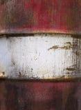 El metal del fondo aherrumbró blanco rojo Foto de archivo libre de regalías