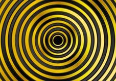 El metal del oro suena el fondo del vector Imagenes de archivo